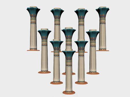 고립 된 이집트 기둥