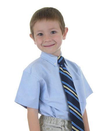 constitutionality: Business Boy Two - Young boy in a tie Stock Photo