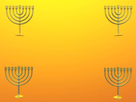 Isolated Golden Menorah with copy space Zdjęcie Seryjne