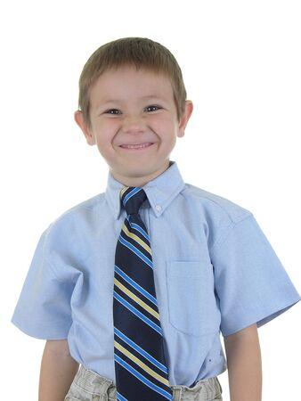 constitutionality: Boy in necktie Isolated
