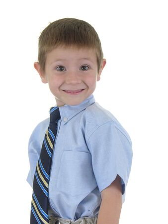 constitutionality: Boy wearing a tie Stock Photo