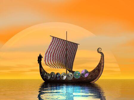 viking: Becalmed viking ship