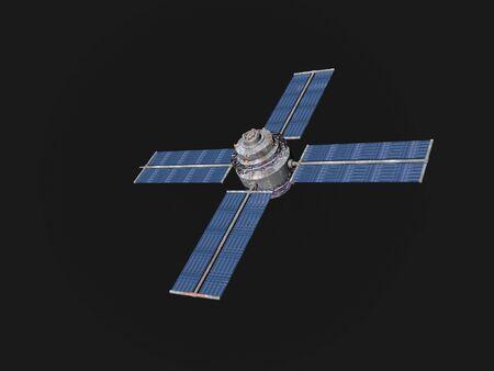 Satellite in a dark sky