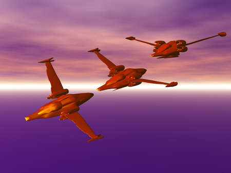 In coming fighter squadron Stock Photo