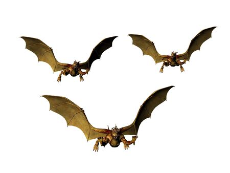 Isolated trio of dragons