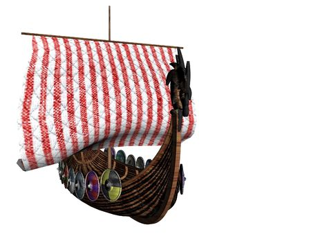 Isolated viking ship photo