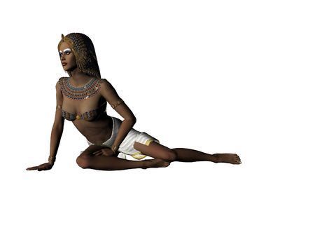 cleopatra: Isolated illustration of Cleopatra Stock Photo