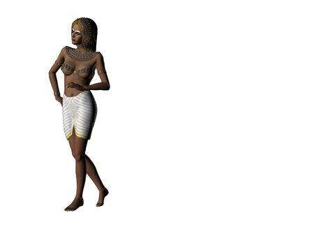 Isolated illustration of Cleopatra Stock Photo