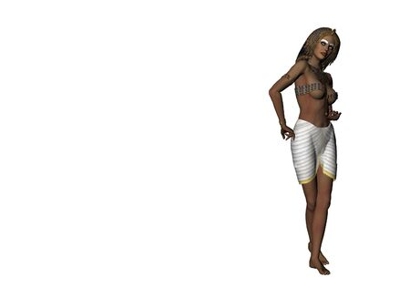 cleopatra: Isolated illustration of Cleopatra Stock Photo