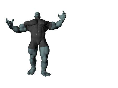 Muscular brute Stok Fotoğraf