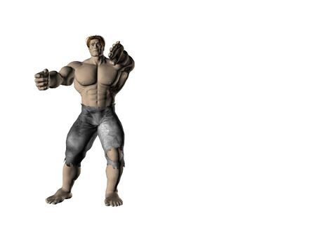 Muscular man of action