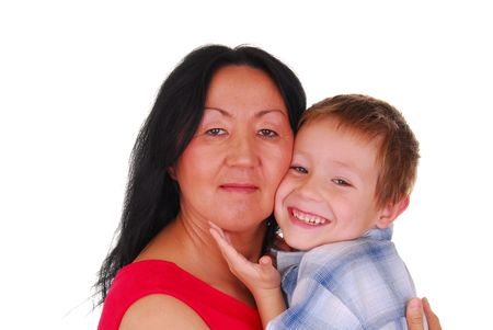 Mother and son photo