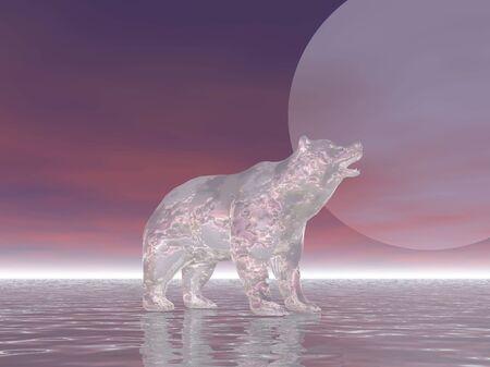 Surreal polar bear