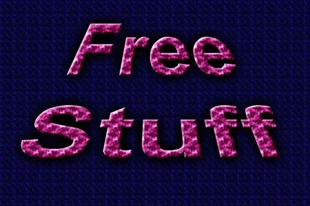 stuff: 3d Free stuff text