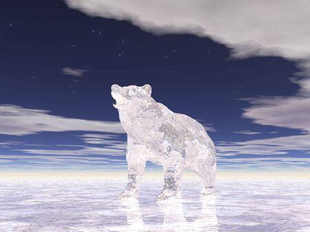 Illustrated ice bear