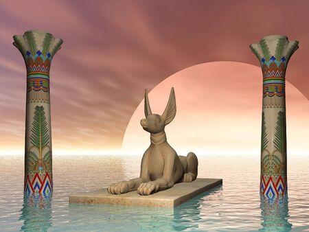 Surrealista dios egipcio Jackel  Foto de archivo - 375526