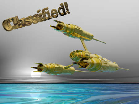 分類された宇宙船の 3 D イラストレーション 写真素材 - 375529