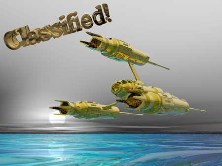 분류 된 우주선의 3D 일러스트 스톡 콘텐츠