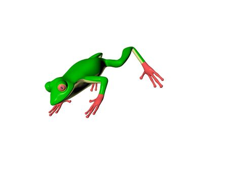 3D Illustration of a frog Stock Photo