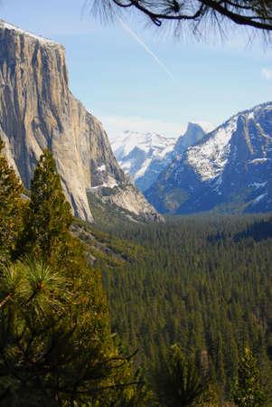 El Capitan & Half-dome Yosemite Stock Photo