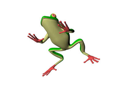 Illustrated 3D frog