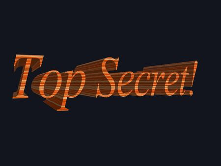 3D Illustration of top secret
