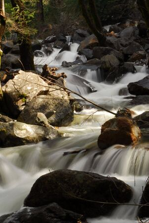 Timed exposure of a running Stream Stock Photo - 419379