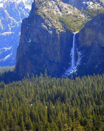 Bridal Veil Falls Yosemite 免版税图像