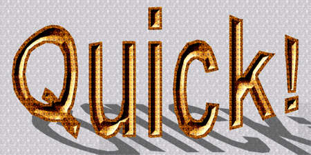 3D text illustration of Quick Stock Photo