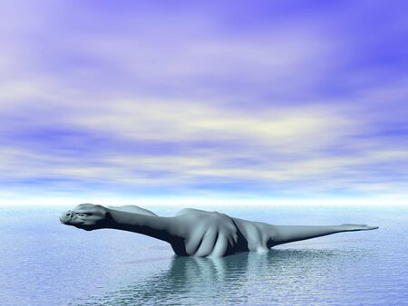 sea monster: Illustrated sea monster