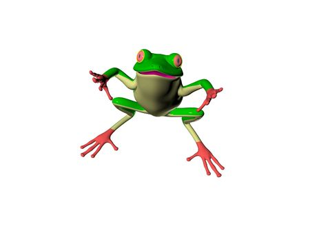 curse: Illustrated 3D frog