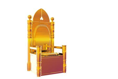 maharaja: Isolated gold throne illustration