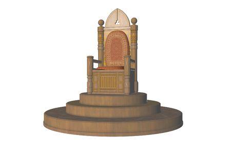 royal house: Isolated Throne On A Dias