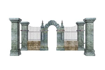 Illustrated gate Banco de Imagens