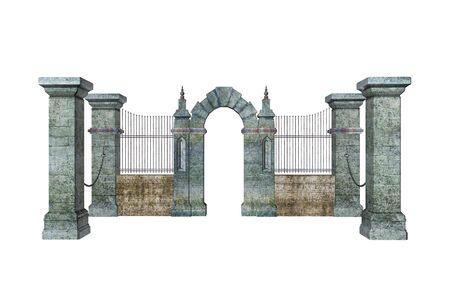 Illustrated gate Reklamní fotografie