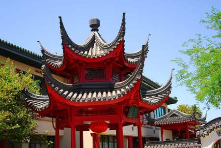 Brillante y estilizada pabellón chino Foto de archivo - 426659