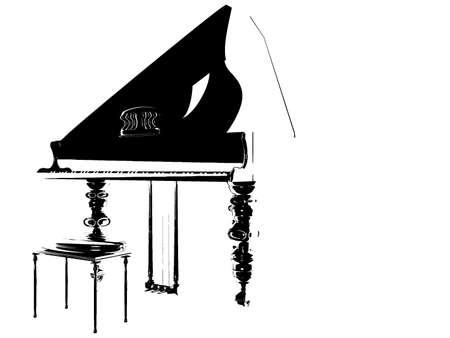 duotone: Isolated duotone piano