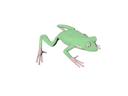 Illustrated colored pencil frog Stock Photo