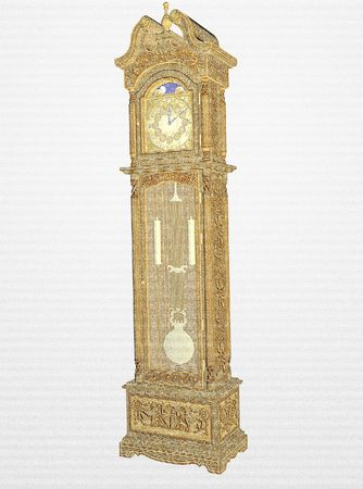 grandfather clock: Pencil sketch grandfather clock