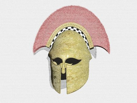 Isolated Pencil sketch of a Spartan Helmet Stock Photo - 436572