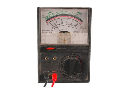 Old analog multimeter Stock Photo