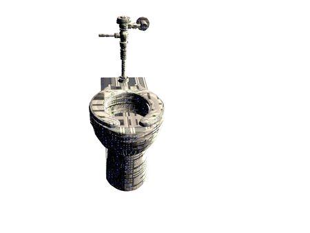 고립 된 일러스트 테크노 화장실 스톡 콘텐츠