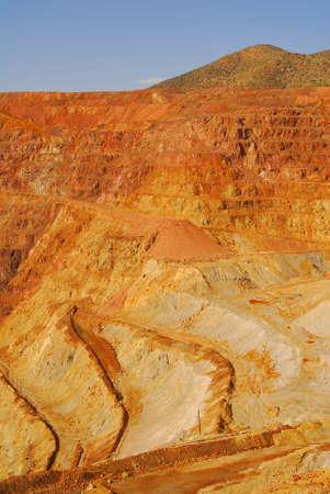 オープンの出土側面ピット鉱山 写真素材