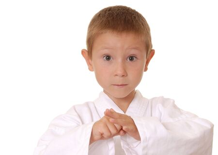 Child in karate gee Stock Photo