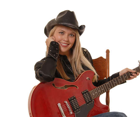 Lovely girl with a guitar photo