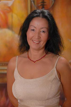 Beautiful lady in a warm setting Banco de Imagens