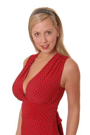 eyes hazel: Beautiful and sexy young blond girl isolated