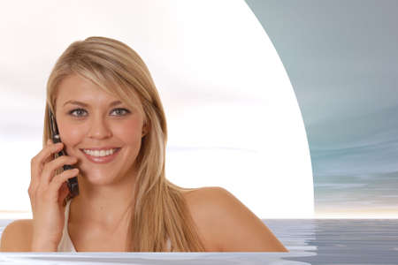 Lovely blond business woman hard at work Stock Photo - 772546