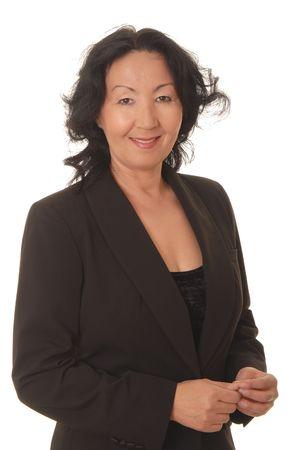 donne mature sexy: Ritratto di una donna asiatica bella di affari Archivio Fotografico