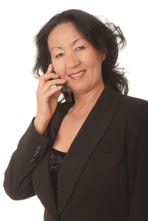 Portrait of a lovely asian business woman  photo